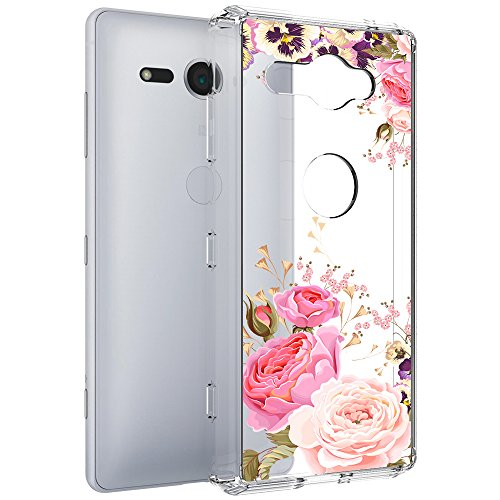 Sony Xperia XZ2 Compact Case, Vinve [Crystal Clear] Anti-Scratch Shockproof Cover Clear Hard Back Panel + TPU Bumper Slim Case for Sony Xperia XZ2 Compact