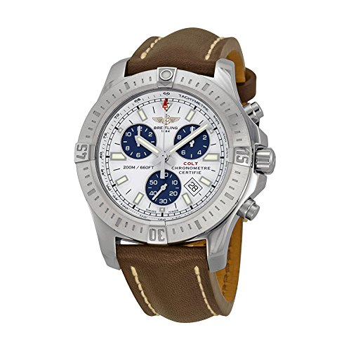 Breitling Colt Chronograph Silver Dial Stainless Steel Mens Watch A7338811-G790BRLT