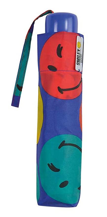 Paraguas plegable infantil Smiley Sonriso 1 Azul