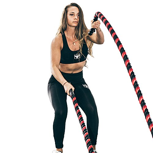 Battle Ropes with Anchor Kit and Nylon Protector Included - Fitness Undulation Rope Exercise - Cross Strength Training - Circuits Workout (1.5'' x 30 ft) by Iron Bull Strength (Image #5)