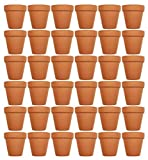 Set of 36 Terra Cotta Pots! 3'' x 2.95'' Pots Perfect for Vegetable or Flower Gardens! 3 inch Clay Terra Cotta Pots! (36)