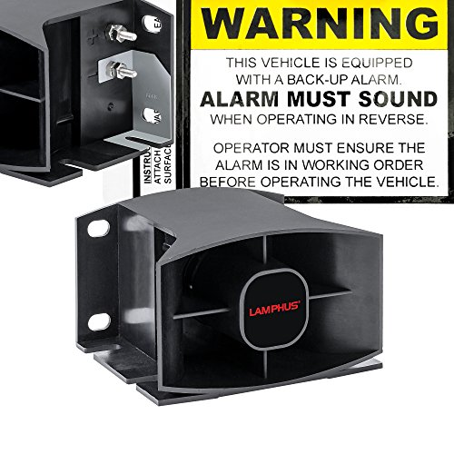 LAMPHUS SoundAlert SABA30 112 dB 12-48V DC SAE J994 Class A Back-Up (Truck Backup Alarms)