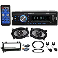 97-02 JEEP WRANGLER TJ Car Digital Media Receiver/Radio+Front Speakers+Wire Kits