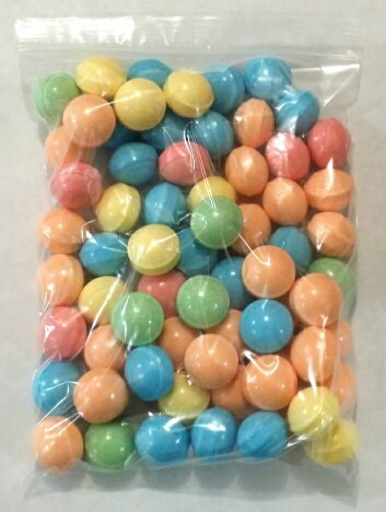 dubble-bubble-bleeps-coated-candy-balls-28-29mm-2-pounds-tangy-fruit-flavored-includes-a-free-4-oz-b