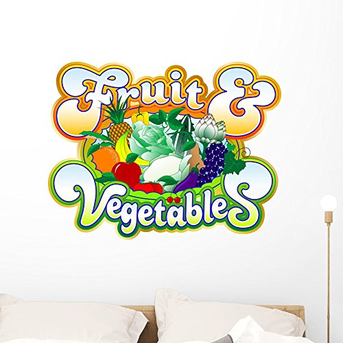 Wallmonkeys Basketball Fruit-vegetables Wall Decal Peel and Stick Graphic WM57292 (36 in W x 28 in H) Baby Citrus Basket