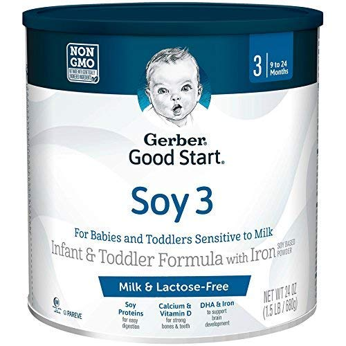 Gerber Good Start Soy Non-GMO Infant and Toddler Formula Powder, Stage 3, 24 OZ (Pack - 3) by Good Start
