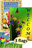Decorative Easter Spring Summer Garden Flags 12 x 18 Inch Bundle Set (x3 Flags – Spring, Welcome, and Easter) Review