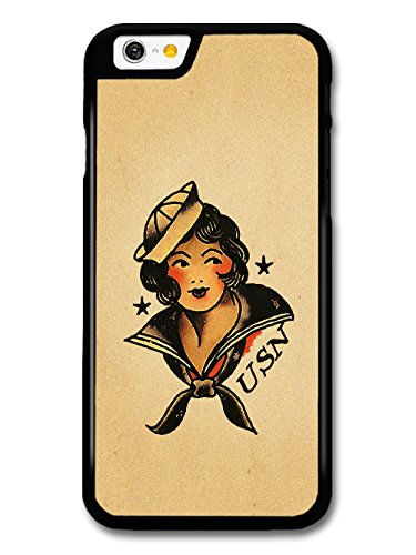 Old Tattoo Vintage Sailor Girl Illustration coque pour iPhone 6 6S