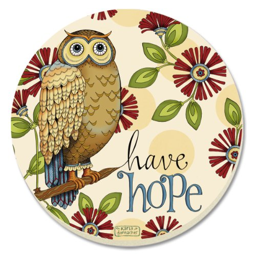 CounterArt Absorbent Coasters Wise Owl