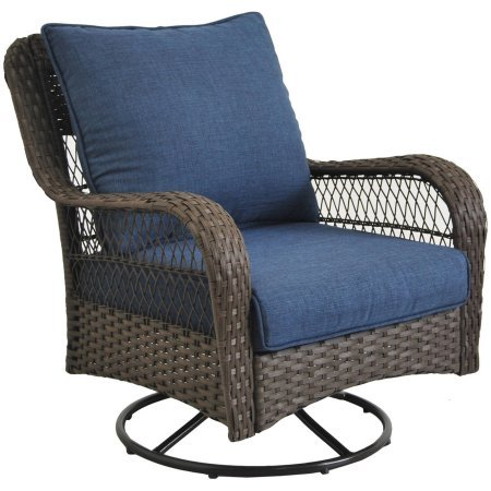 Better Homes and Gardens Colebrook 3-Piece Outdoor Chat Set, Seats 2 (Blue) (Outdoor Bar Sets Home Depot)