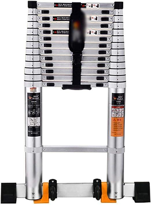 LJSJT Escalera Telescópica Escaleras del hogar Escalera Recta Todo el Conector de aleación de Aluminio. Altura Ajustable Seguro y a Salvo Peso del rodamiento 150kg (Tamaño : 3.8m): Amazon.es: Hogar