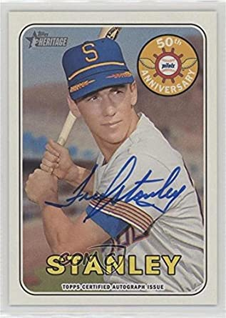 amazon com fred stanley baseball card 2018 topps heritage
