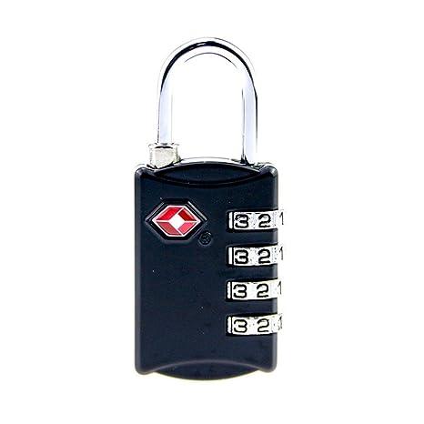 CHSUKHO Cerraduras de equipaje TSA, [3 paquetes] Candado de seguridad de 4 dígitos