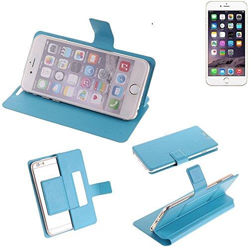Flipcover Schutz Hülle für Apple iPhone 6s, blau (hellblau) | bookstyle wallet case slim cover Tasche - K-S-Trade (TM) (Wir zahlen Steuern in Deutschland!)