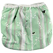 Thirsties Reusable Cloth Diaper Cover, Hook and Loop Closure, Aspen Grove Size Two (18-40 lbs)