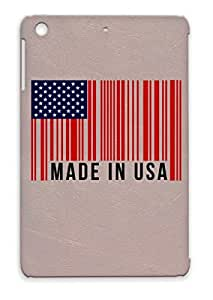 Made In Usa America Countries Flags Independent Day 4 July Flag Cities Barcode I Love Red Case For Ipad Mini