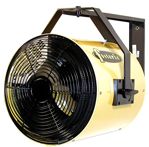 TPI YES15241A Heat Wave YES Series Electric Heater - Heat Wave Electric Salamander Heater, Wall/Ceiling Mount, Yellow Color. Heating Equipment
