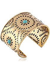 "Lucky Brand ""Cleobella"" Gold-Tone Perforated Cuff Bracelet, 6.25"""