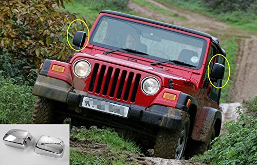 FMtoppeak Review Mirror Covers Trim Decoration Exterior Mouldings Styling ABS for Jeep Wrangler TJ 1997-2006