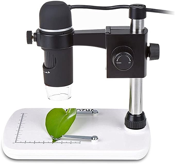 MAOZUA 5MP 20x-300x Magnifier Microscopio USB 5MP con Soporte Base ...