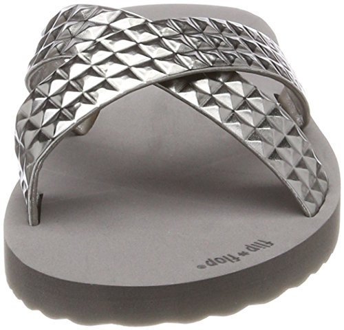 Tile flip Bout Steel flop Ouvert 0170 Femme Cross Gris BBqpxE