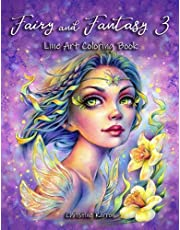 Fairy and Fantasy 3 Line Art Coloring Book