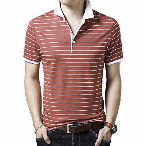 タヒチ適合しました幸運なことにYUNCLOS ポロシャツ メンズ poloシャツ ボタンダウン 半袖 ラガーシャツ ゴルフウェア スポーツウェア ボーダー 開襟シャツ コットン スポーツ ゴルフ 春 夏 M L XL