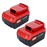 Lasica Upgraded 2Pack 4000mAh 18V PC18 Lithium Battery Compatible with Porter Cable 18Volt Cordless Power Tools Battery PC18B PC18BL PC18BLX PCC489N PC188 Porter Cable 18-Volt Replacement Battery