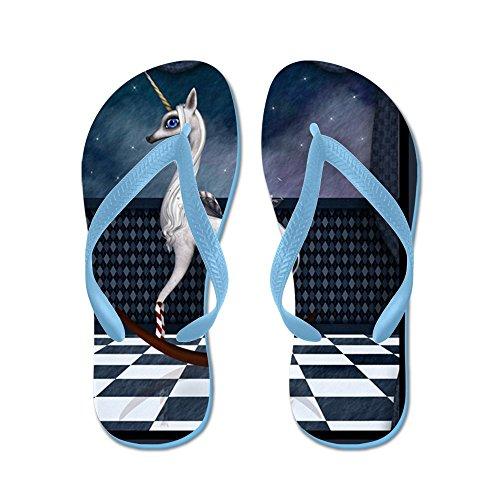 Vraiment Teague Mens Rocking Unicorn Caoutchouc Flip Flops Sandales Caraïbes Bleu