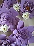 Set of 5 Giant 23 inch Purple Paper flower backdrop,wedding backdrop,Giant purple paper flower wedding backdrop,Nursery room decor