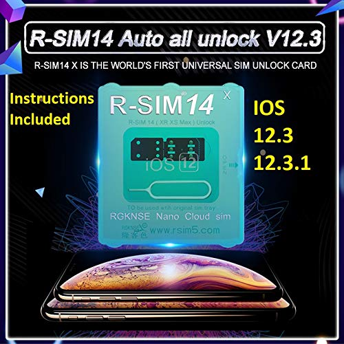 RSIM 14 x v10 1 Auto Unlock Chip Compatible with iPhone Xr Xs Max iOS  12 3 1 rsim14 rsim14x r-sim Turbo Unlock sim