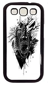 Slim Samsung Galaxy S3 I9300 Case Abstract Painting Deer Custom Snap on Fits Hard Back Case for Samsung Galaxy S3 I9300