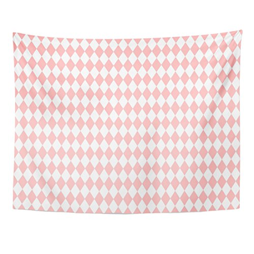 VaryHome Tapestry Red Plaid Pink and White Pattern Abstract Home Decor Wall Hanging for Living Room Bedroom Dorm 60x80 (2 Pierrots Halloween)