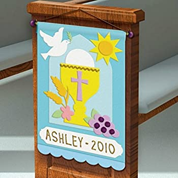 First communion pew banner decorating felt for First communion craft ideas