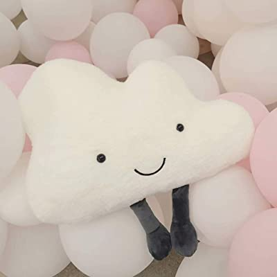 m·kvfa Adorable Cloud Pillow Cushions Pillow Children Plush Decorative Throw Pillow Decorative Cushion Cover Square Pillowcase Home Decor (30cm): Toys & Games