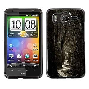 TopCaseStore / la caja del caucho duro de la cubierta de protección de la piel - Meaning Forest Black White Nature - HTC G10