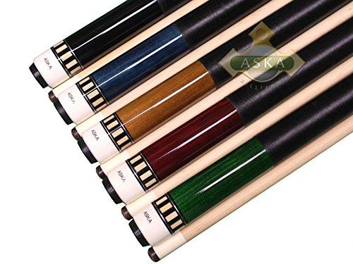 Aska Set of 5 L25 Billiard Pool Cues, 58