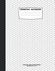 "This Isometric Paper Notebook Is Printed With A Grid Of Equilateral Triangles (Each Measuring .28""). It Is Perfect For Any Kind Of Three Dimensional Design Including Architecture, Landscaping Or Sculpture. It Is Excellent To Draw Puzzles Or C..."