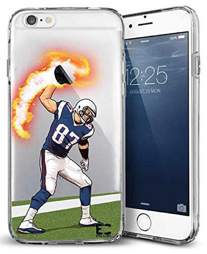 (Epic Cases iPhone 6/6s Case for Apple iPhone, Ultra Slim Transparent Dominate the Football Gridiron Series - Gronk Spike, Clear (iPhone 6) (iPhone 6s))