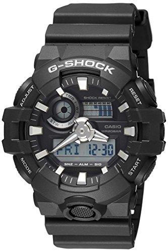 G-shock Ana Digi (Casio G-shock Ana Digi All Black Men's Watch, 200 Meter Water Resistant with Day and Date GA-700-1B)