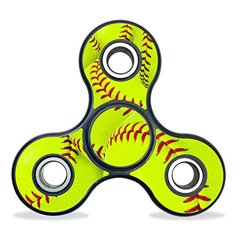 MightySkins Vinyl Decal Skin For Fidget Spinner – Softball Collection | Protective Sticker Wrap For Three-Bladed Fydget toy | Easy To Apply Cover | Low Grip Adhesive Removes Clean | 100's of (Spinner Collection)