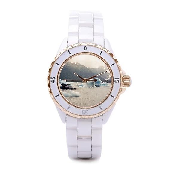 Queensland Iceberg de cerámica de la tienda de reloj relojes para hombre de preservación: Amazon.es: Relojes