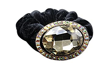 Amazon.com   Shengxueer 1pc Crystal Diamante Hair Elastic Hair Ties Rope  (Champagne)   Beauty c1c4ced9118