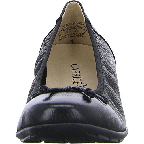 Schwarz Nero 003 Ballerine 22106 9 Black Donna Caprice Deer 9 Nero 20 n0qzxp7U