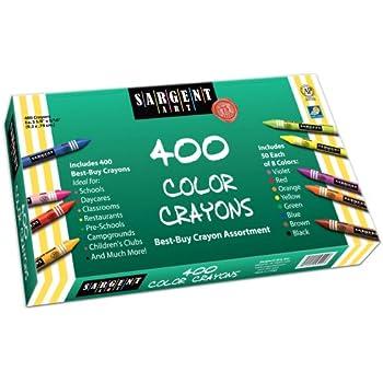 Sargent Art 400-Count Crayon Class Pack, Best-Buy Assortment, 3-5/8 Inch, 55-3220