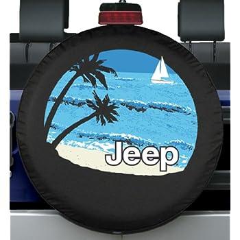 """Compare Tire Sizes >> Amazon.com: 32-33"""" Premium Jeep Tire Cover - Beach Design -: Automotive"""