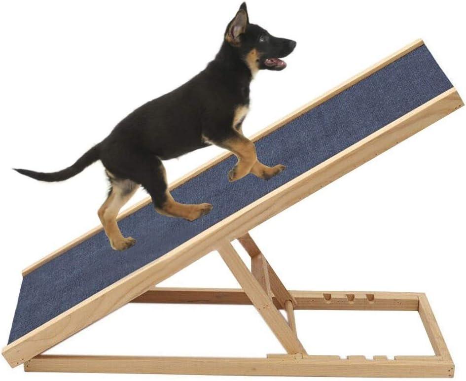 Escalera de Mascota Altura Ajustable Rampa para Perros Grandes y Gatos Mayores - Escaleras de Madera para Mascotas para Camas Altas, sofá, automóviles y SUV, Carga 50kg / 110lbs: Amazon.es: Hogar