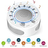White Noise Machine High Fidelity Sound Machine for Sleeping & Relaxation - 9 Natural and Soothing Sounds- Plug in Or Battery Powered - Portable Sleep Sound Therapy for Home, Office or Travel