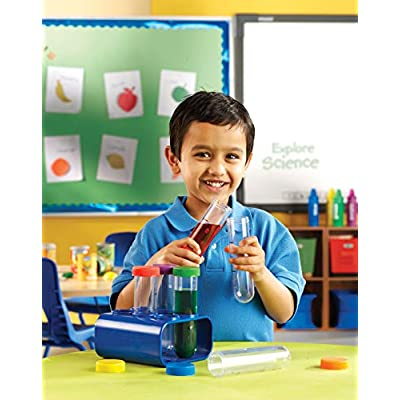 Learning Resources Primary Science Jumbo Test Tubes with Stand, Set of 6 Tubes, Ages 3+ : Science Lab Test Tubes : Office Products