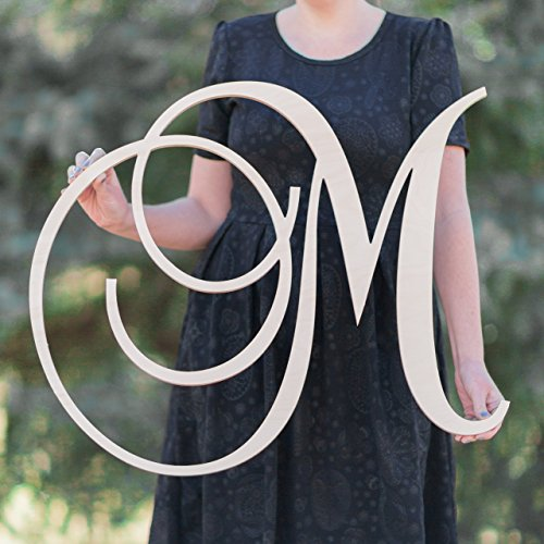SALE 12-36 inch tall Single Letter Curved Font Wooden Monogram Vine Room Decor Nursery Decor Wooden Monogram Wall Art Large Wood monogram wall hanging wood LARGE]()